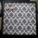 Black and White Damask Message Board